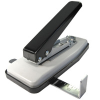 Stapler-Style Slot Punch with Adjustable Throat