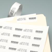 "Laser Printable Patient Wristbands, Paper Laminate Foldover, Tamper-Evident, 2-1/2 x 1"" (1,000 Bands)"