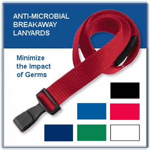 Anti-Microbial Lanyards  (100)