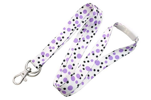 PURPLE Polka Dot Lanyards (2138-7289)