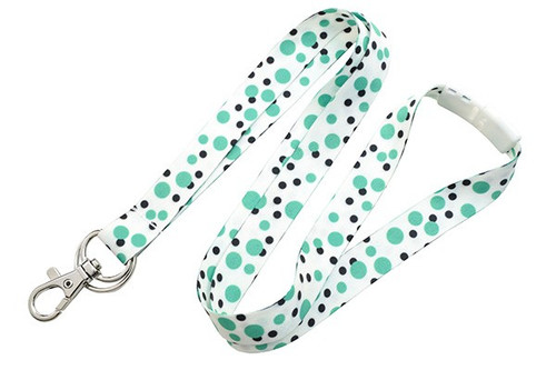 2138-7284, Green Polka Dot Lanyard