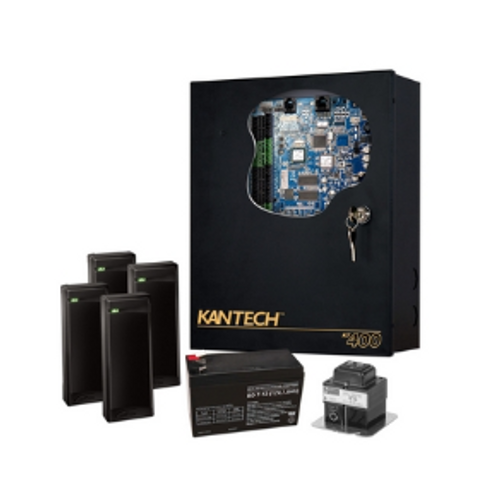 Access Control Expansion Kit, 4-Door, Includes KT-400 Controller, 4x P225XSF Reader, Transformer, Battery