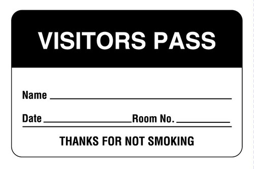 Visitor Pass Label Badges   (1,000 Badges)