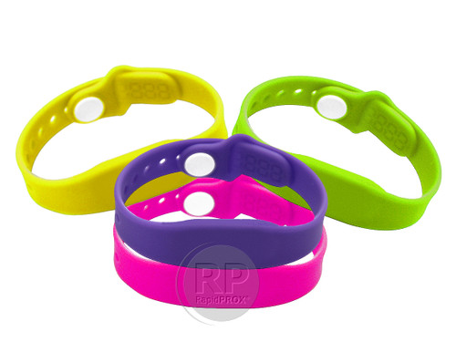 RapidPROX® KidFit™ (100 Wristbands) for HID® 125kHz Proximity Technology, Bright-Colored, Adjustable,  Contactless & Touch-Free