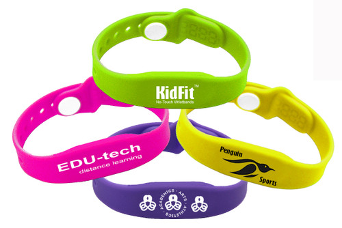 RapidPROX® KidFit™ (100 Bands) for HID® 125kHz Proximity Technology, Custom-Printed, Contactless & Bright-Colored, Adjustable,  Contactless & Touch-Free