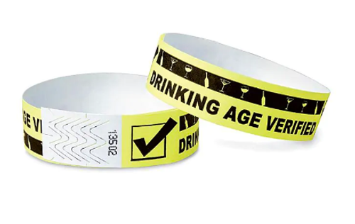 Drinking Age Verified, Tyvek Wristband