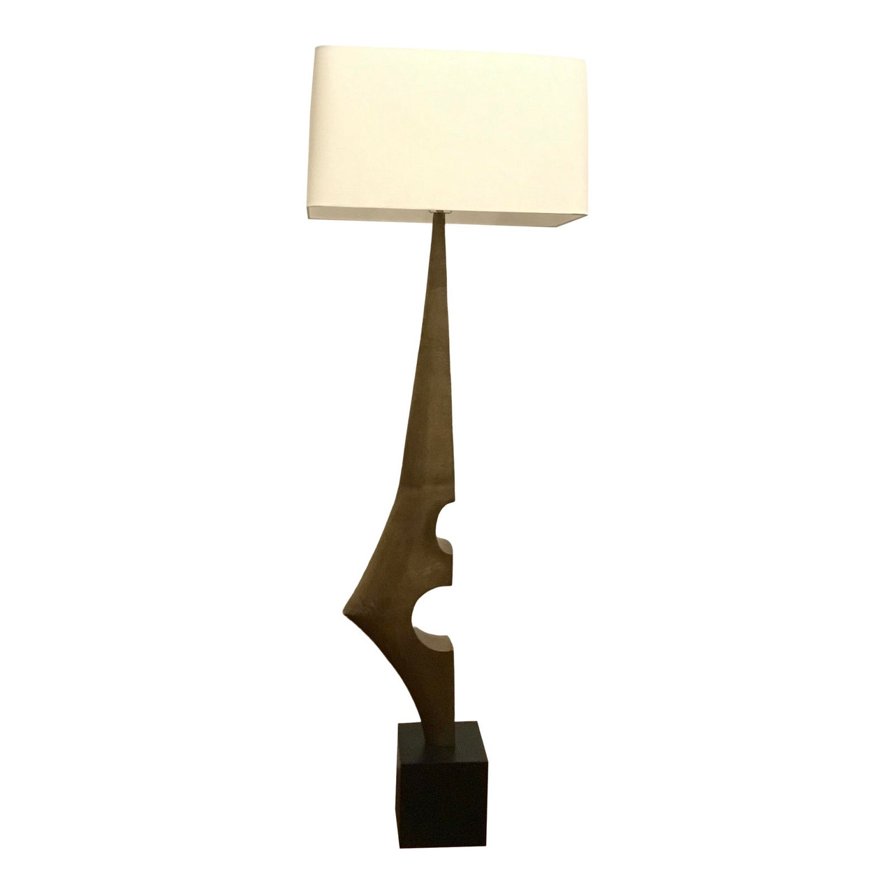 Image of: Arteriors Mid Century Modern Style Sculptural Antique Brass Finished Umberto Floor Lamp United States