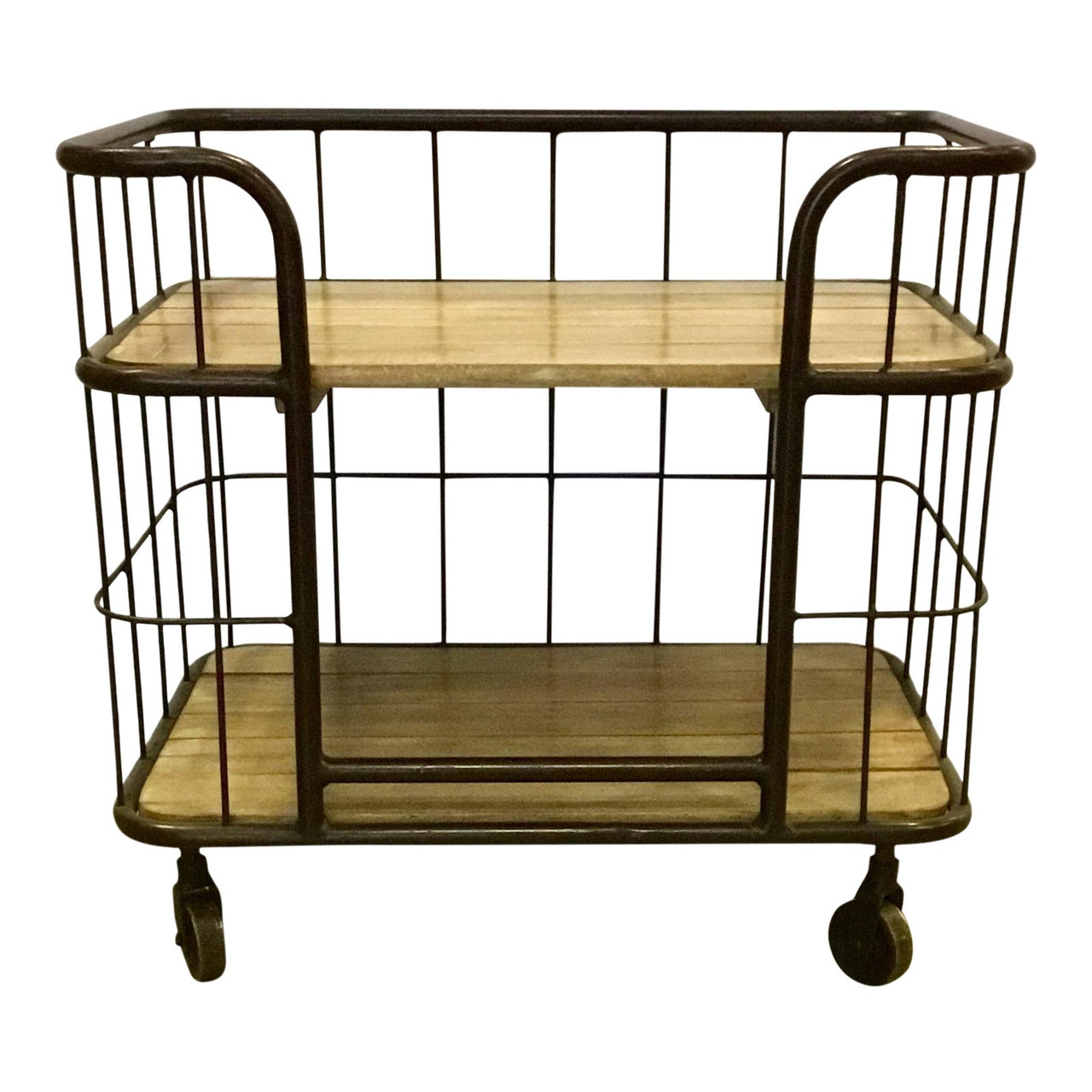 Industrial Modern Interlude Home Palermo Side Table Bar Cart United States