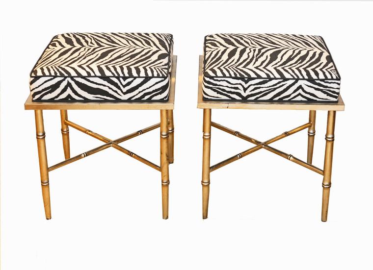 Pair Zebra Benches