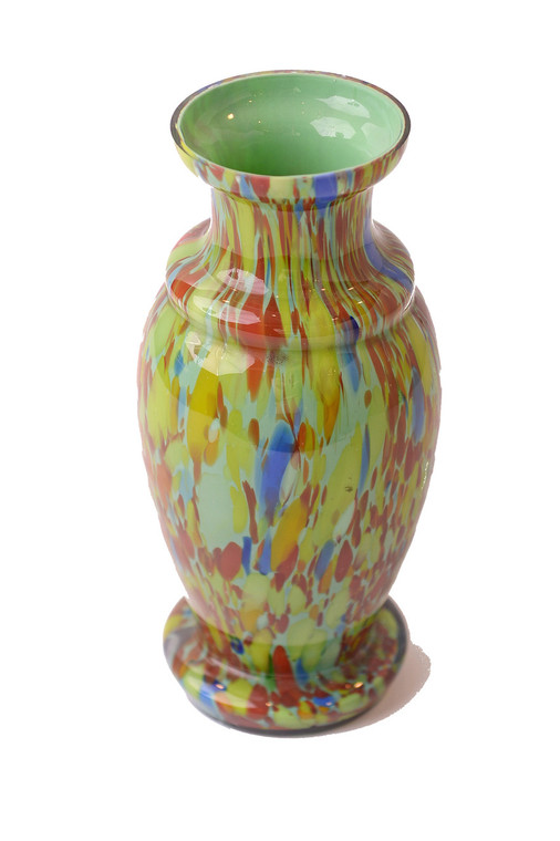 Czechoslovakian Vase Green/Multi