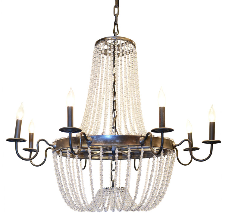 Large Glass Bead Chandelier