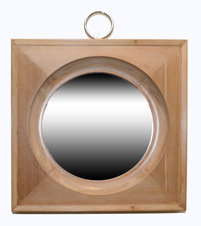 Wood Circular Mirror