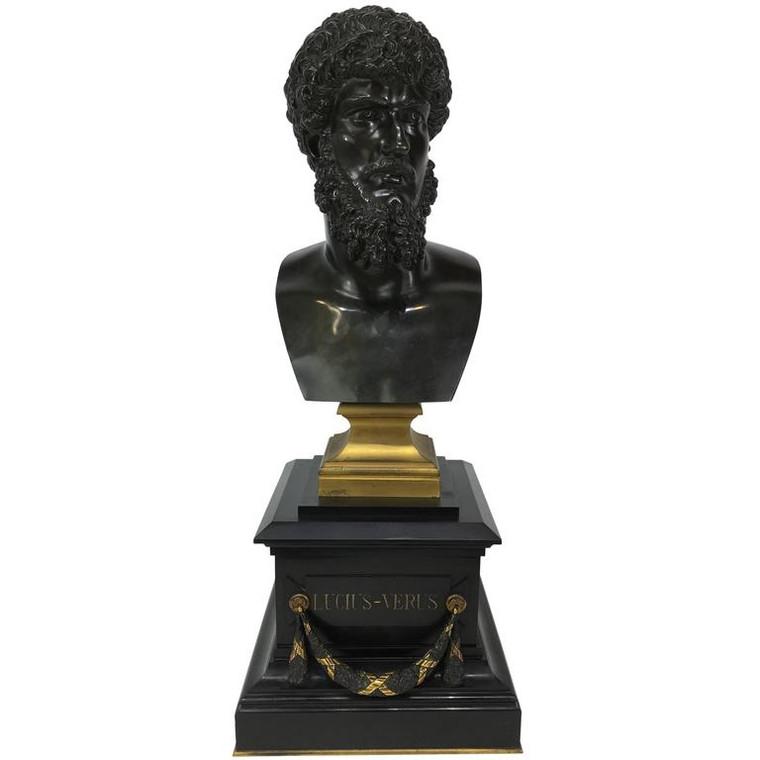 Bronze Bust of Emperor Lucius Verus