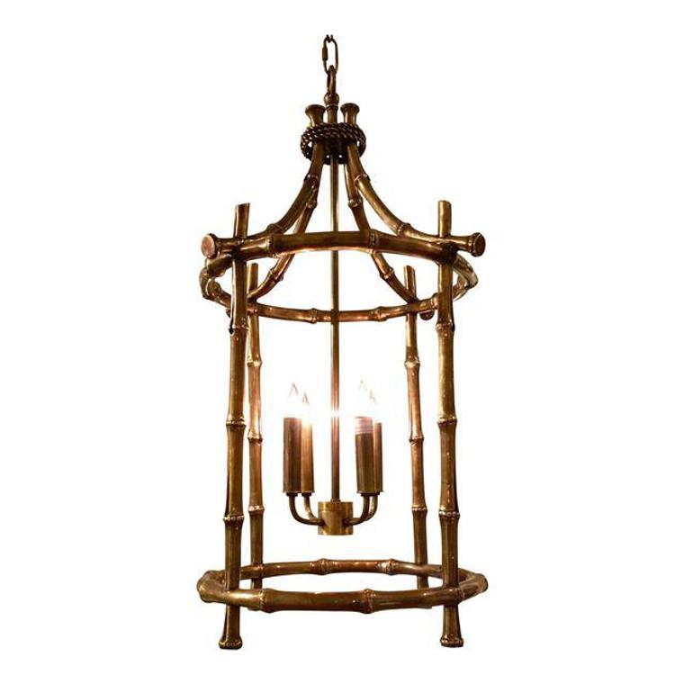 Currey & Co. Brass Bamboo Bansari Lantern