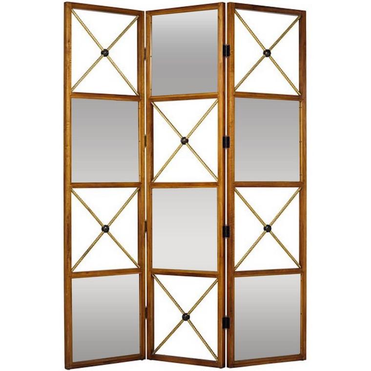 Maison Jansen Style Neoclassic Three-Panel Dual Sided Screen