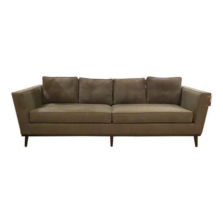 Mid-Century Style Charcoal Sofa