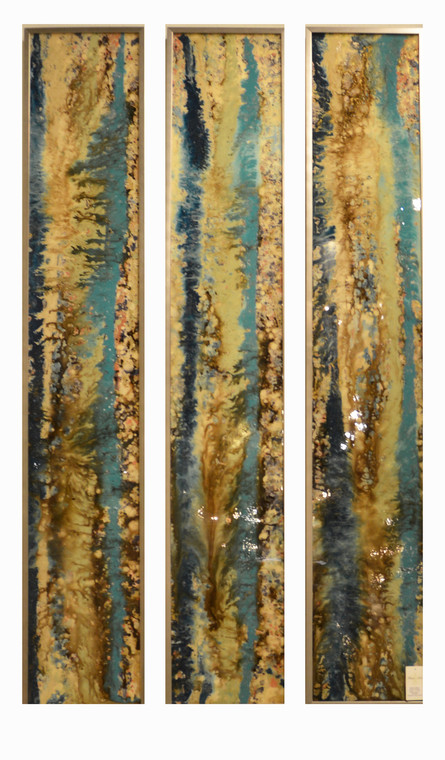 Abstract Triptych Original Paintings
