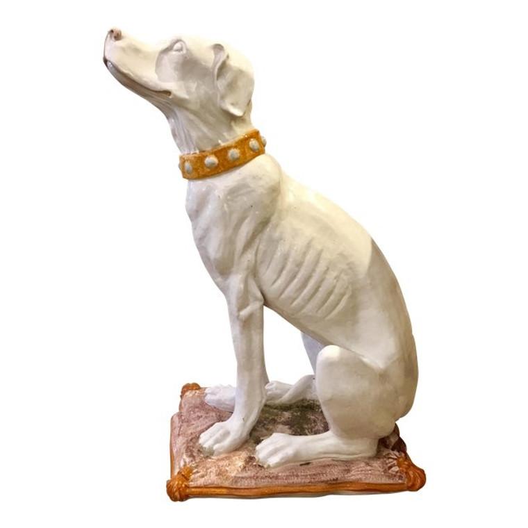 Vintage Italian Terracotta Dog