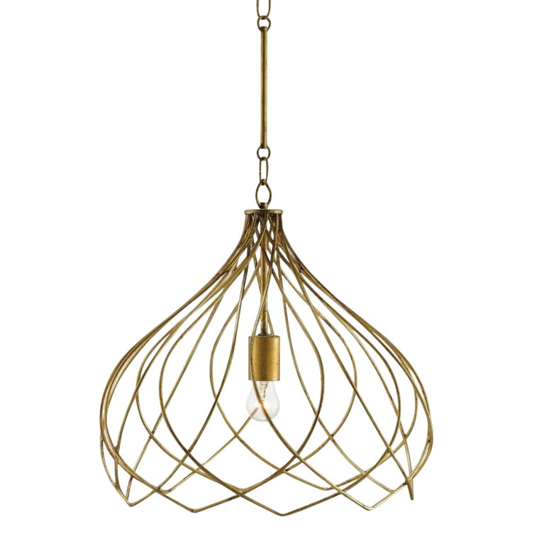 Modern Currey & Co. Gold Metal Coralie Pendant