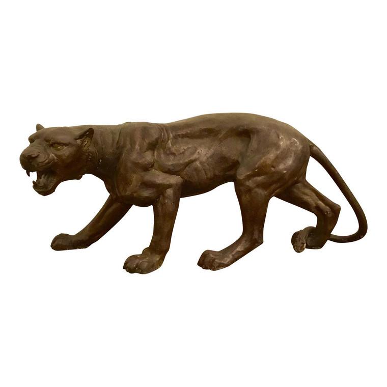 Vintage Large Bronze Cougar