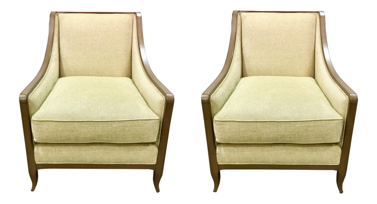 Caracole Social Butterfly Club Chairs - A Pair