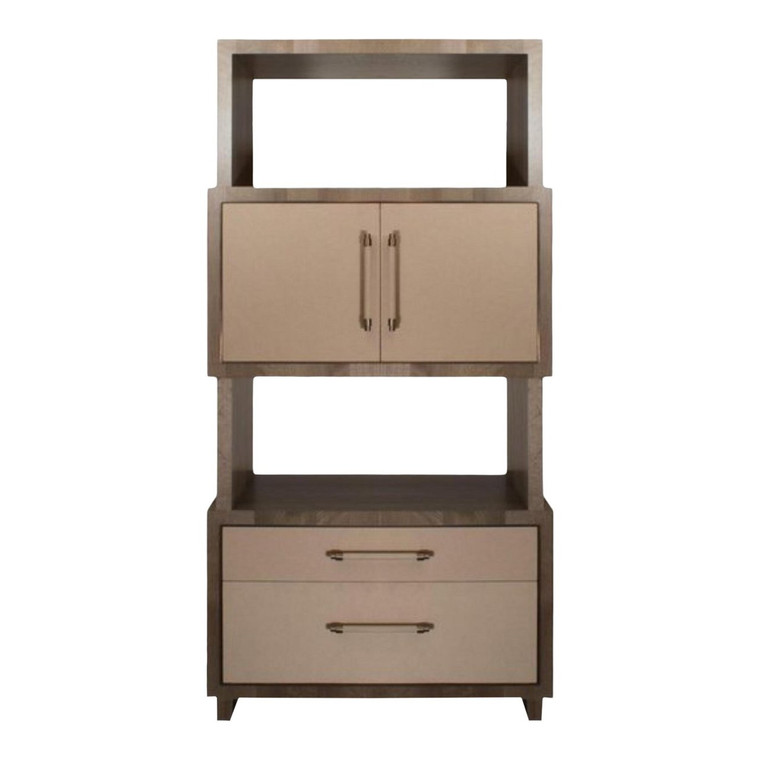 Modern Henredon East End Gray and Taupe Etagere