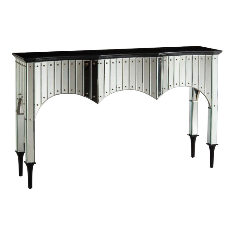 John Richard Modern Malibu Mirrored Console Table