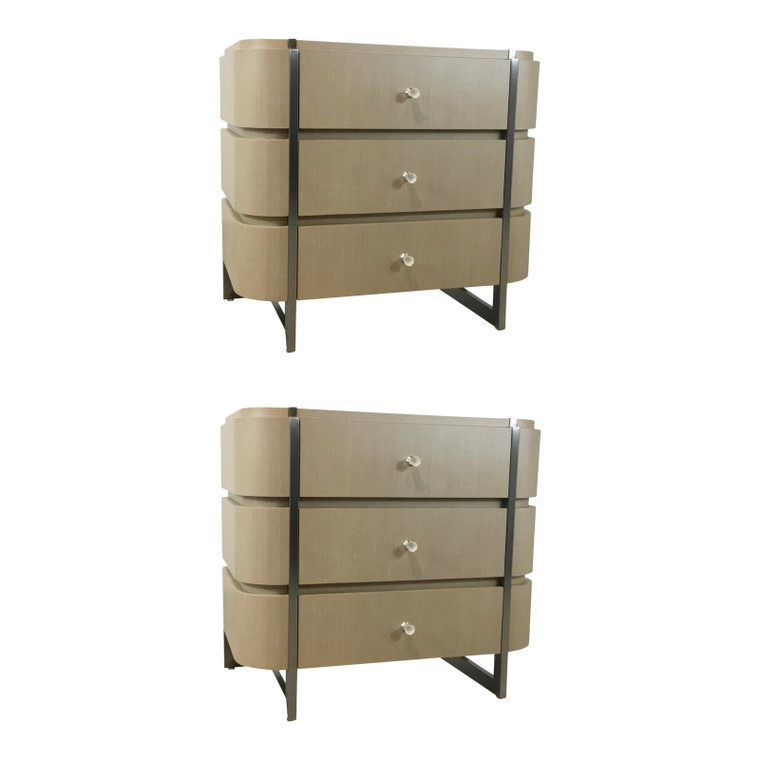 Caracole Modern Taupe Grace Nightstands Pair