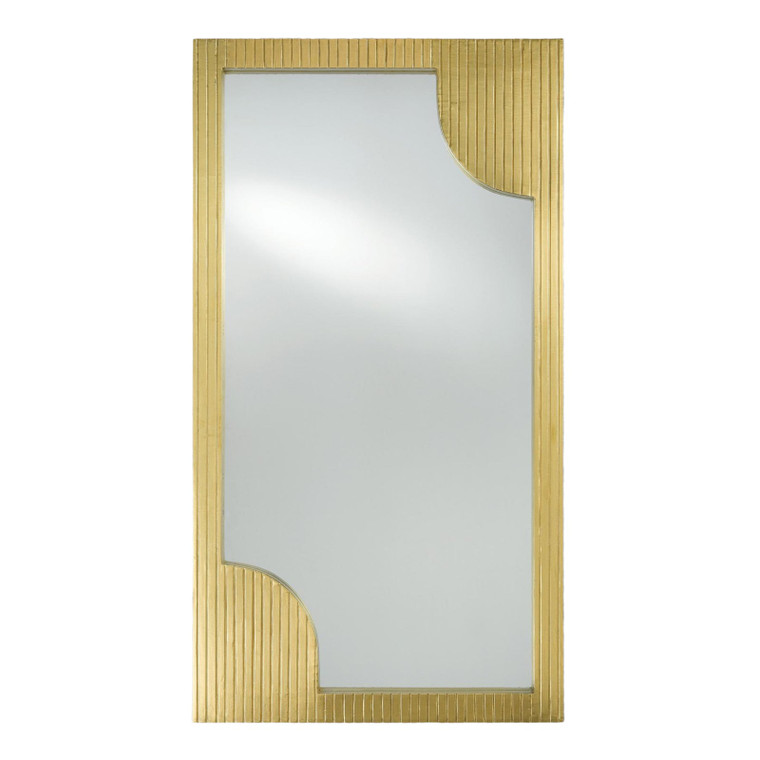 Currey & Co. Modern Brass Foil Finished Wall Mirror
