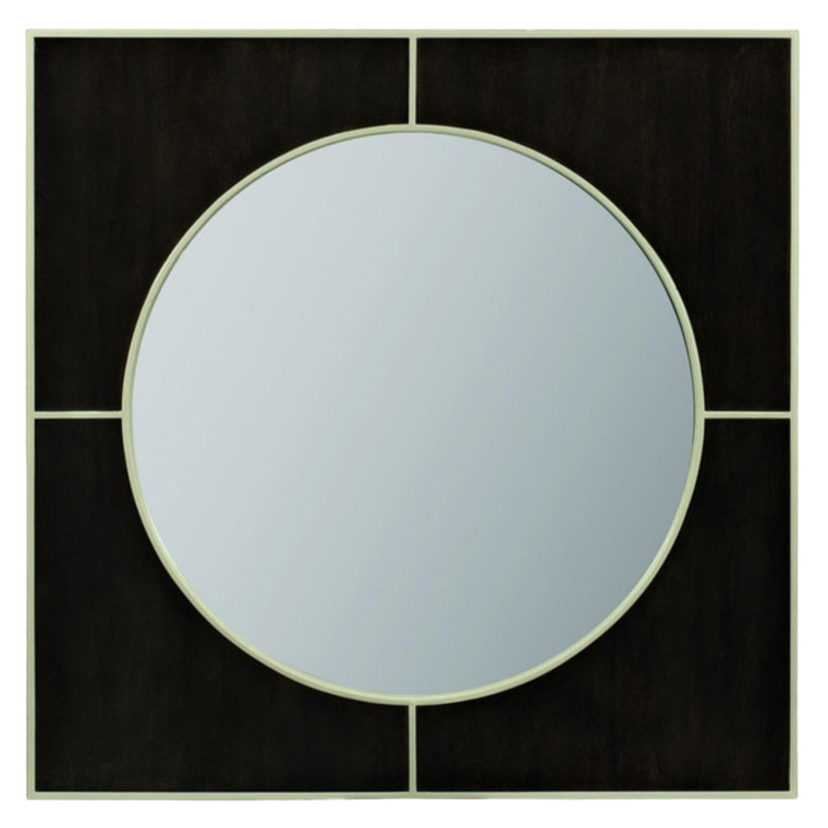 Caracole Modern Black Peppercorn Finished Wall Mirror