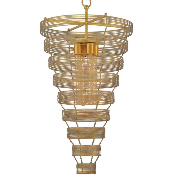 Currey & Co. Modern Gold Ambrosia Chandelier
