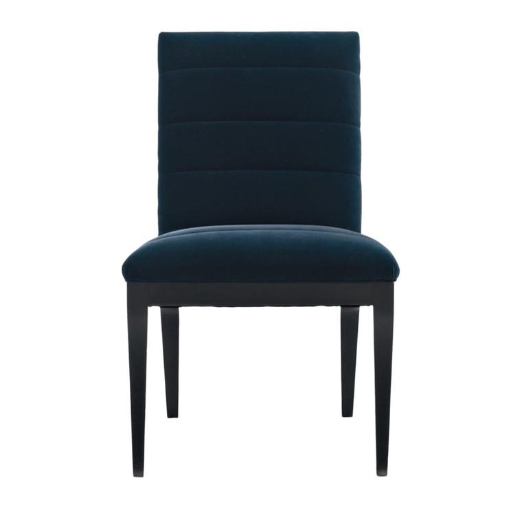 Caracole Modern Blue Velvet Edge Side Chair