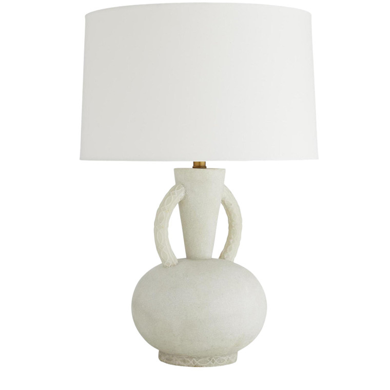 Arteriors Modern White Faux Marble Wainwright Table Lamp