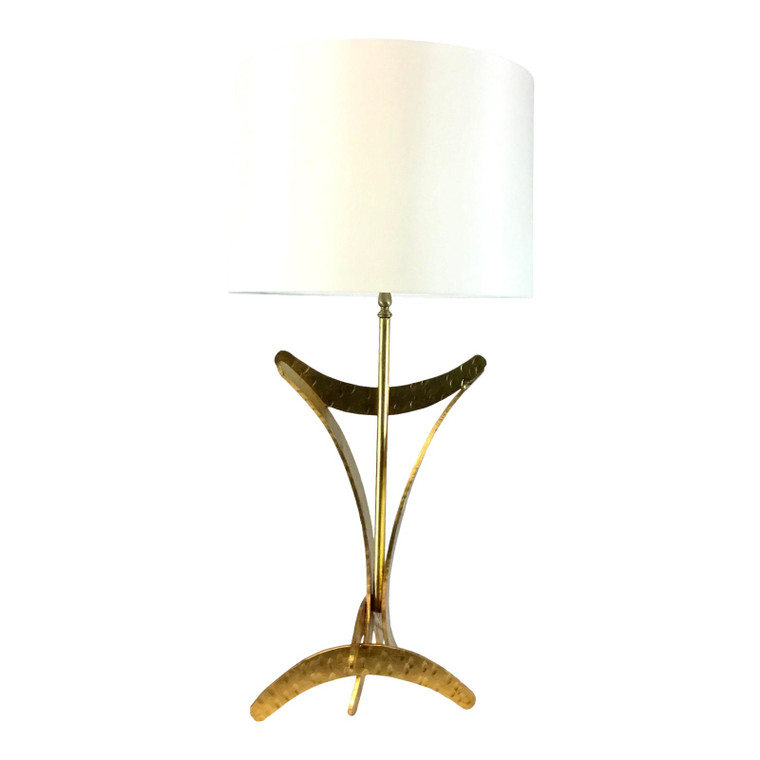 Worlds Away Modern Sculptural Gold Finished Marisol Table Lamp