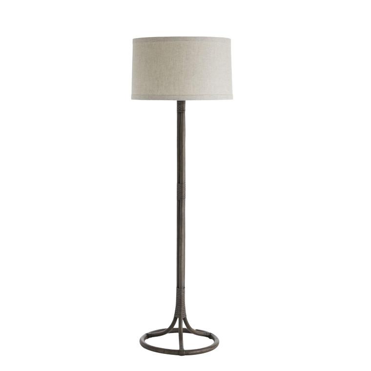 Arteriors Organic Modern Gray Rattan Simon Floor Lamp
