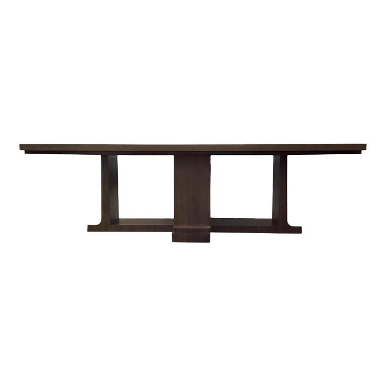 Hickory White Modern Two Toned Dining Table