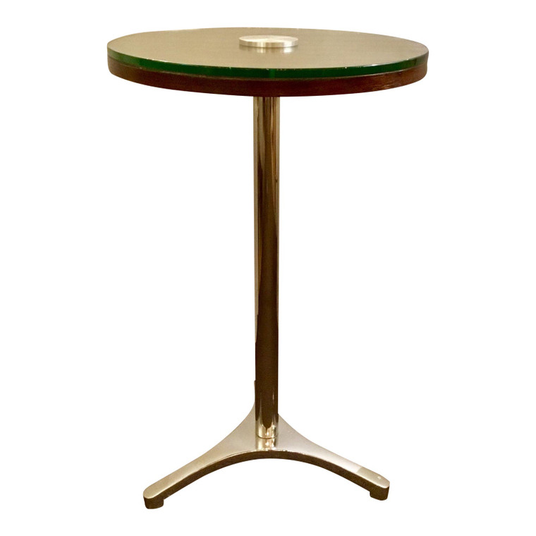 Modern Chrome & Wood Accent Table/Side Table