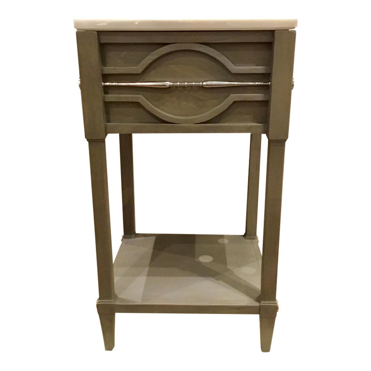 Ambella Home Modern Gray Wood and Marble Spindle Sink/Vanity