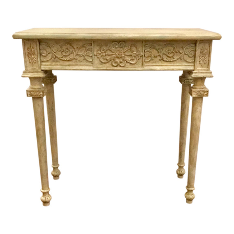 French Style Painted Console Table