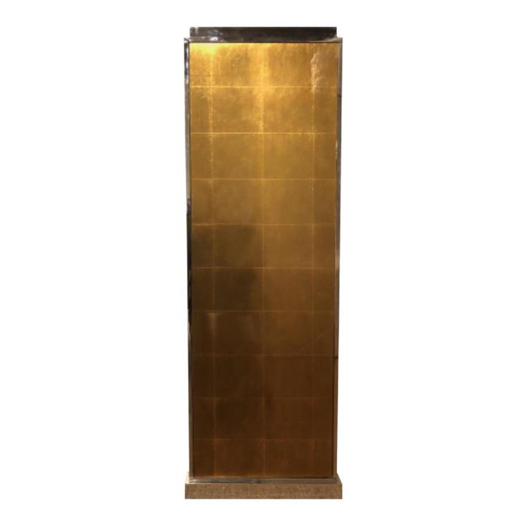 Henredon J. Bilhuber Gold Glass Pedestal