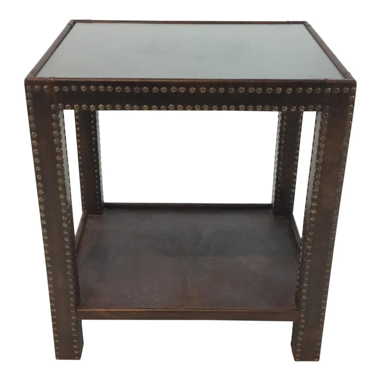 Alayna Leather Side Table