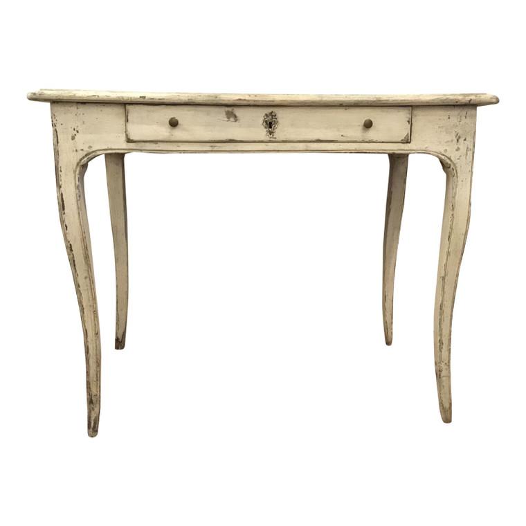 Antique White French Saber Leg Writing Desk