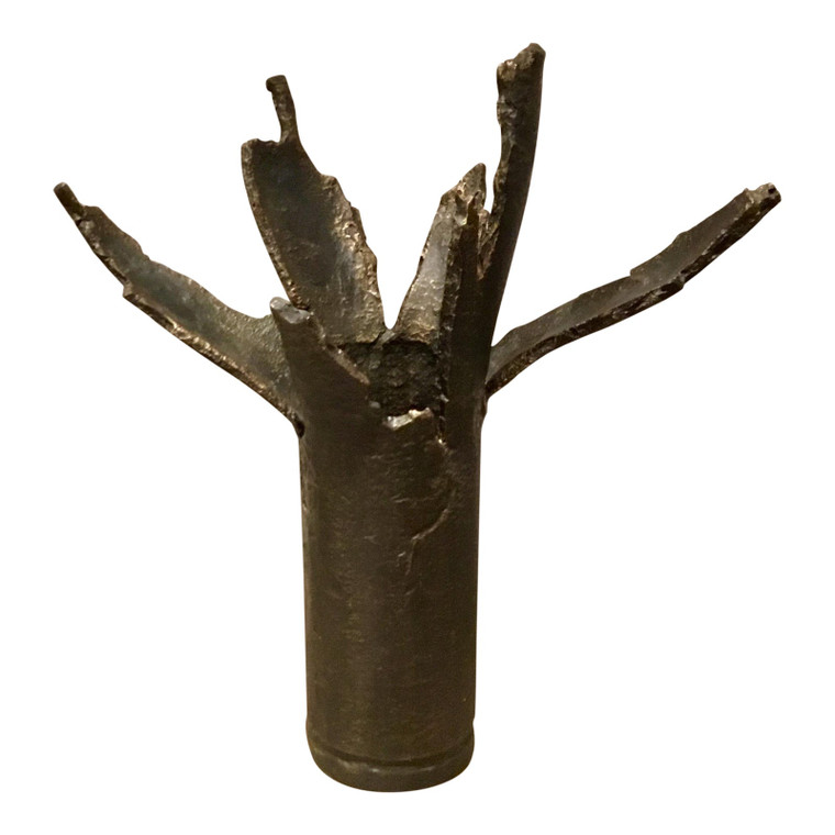 Mid-Century Brutalist Style Bronze Sculpture/Vase