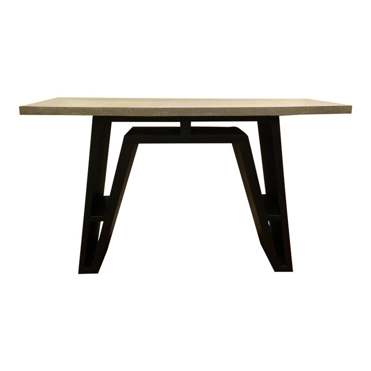 Currey and Co. Industrial Modern Gray Concrete Top Desk/Console Table