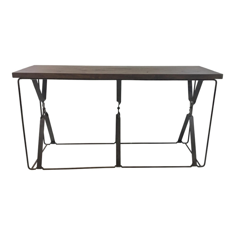 Organic Modern Wood and Metal Gabby Camden Console Table