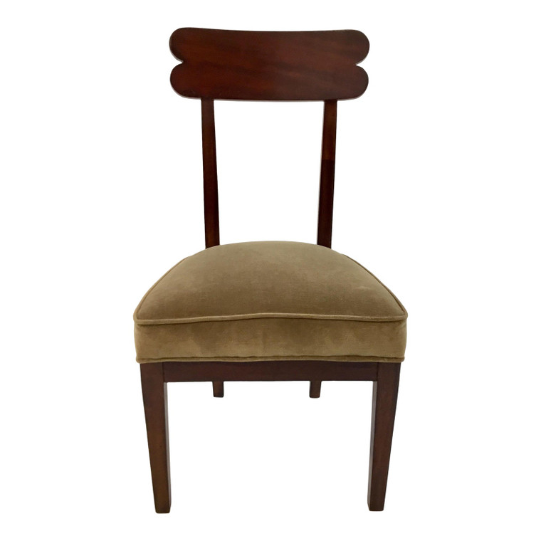 Transitional Hickory Chair Olive Velvet Southfield Chair