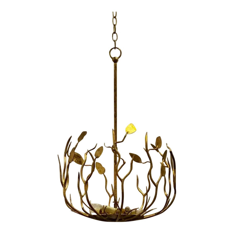Arteriors Organic Modern Uptown Gold Iron Pendant