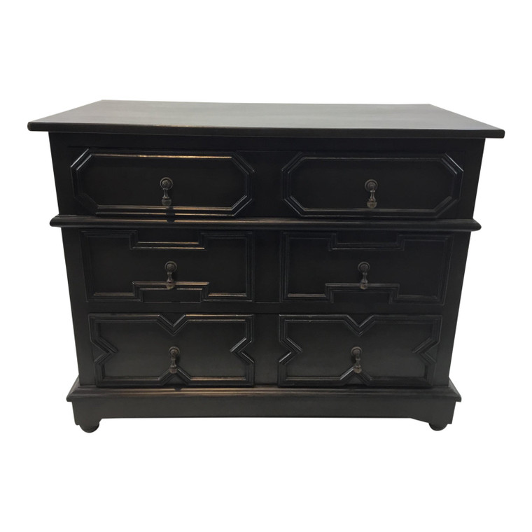 Noir Co. Transitional Black Watson Mahogany Dresser
