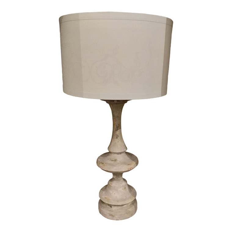 Aiden Gray Co. Modern Form Soft Gray Baxter Table Lamp