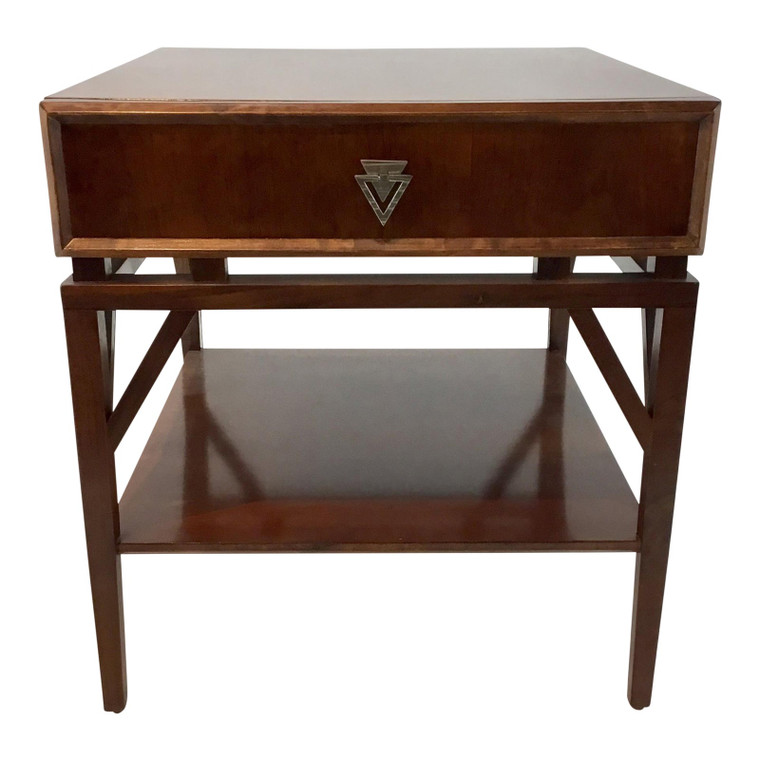 Modern Mahogany Finished Tray-Blen End Table